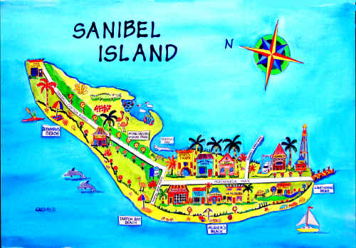 florida map of sanibel island